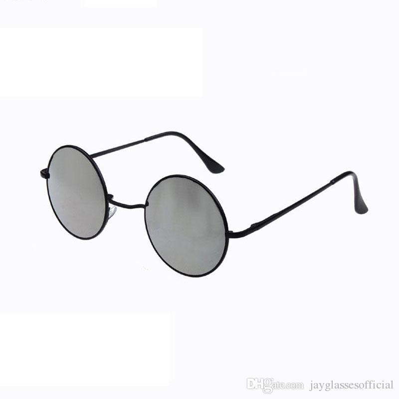 Классические круглые солнцезащитные очки женщин модный бренд дизайнер металлический каркас старинные зеркала Солнце ретро розовое золото круг Reyed очки женские UV400