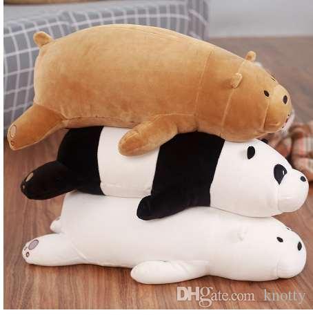 50 см мультфильм медведя лежа мед медведь гризли серый белый медведь панда плюшевые игрушки для детей Kawaii куклы для детей подарки
