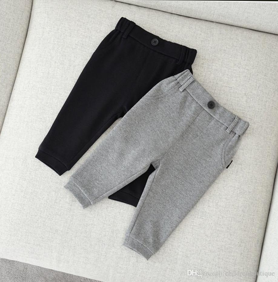 Children Clothes Kids Pants 2018 Spring And Autumn Boys Girls Harem Pants High Quality Cotton Trousers Baby Pants Leggings 2Colors Wholesale