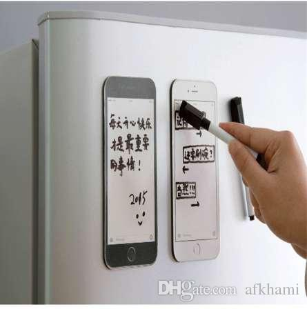 Nevera creativa para iPhone6 plus modelo Pizarra magnética / Bloc de notas / Tablero de mensajes Imanes de refrigerador Decoración del hogar