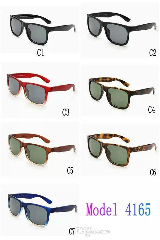 Nova marca designer moda óculos de sol de vidro ao ar livre para homens e mulheres esporte unisex sol óculos de sol preto óculos de sol 7color frete grátis