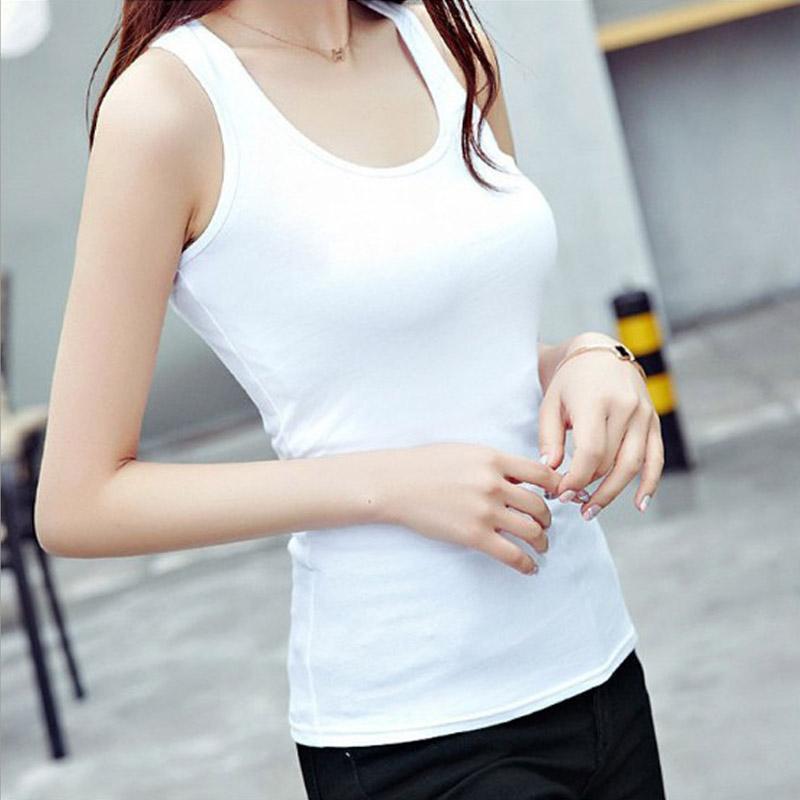 10 colori solidi Slim Donne canotte 30pcs estivo senza maniche Serbatoi Camis Tees per la donna sexy Top White Nero Multi colori Vest