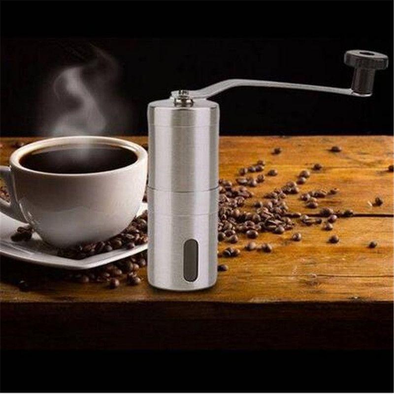 Pratik Kahve Çekirdeği Değirmeni Paslanmaz Çelik El Manuel El Yapımı Değirmeni