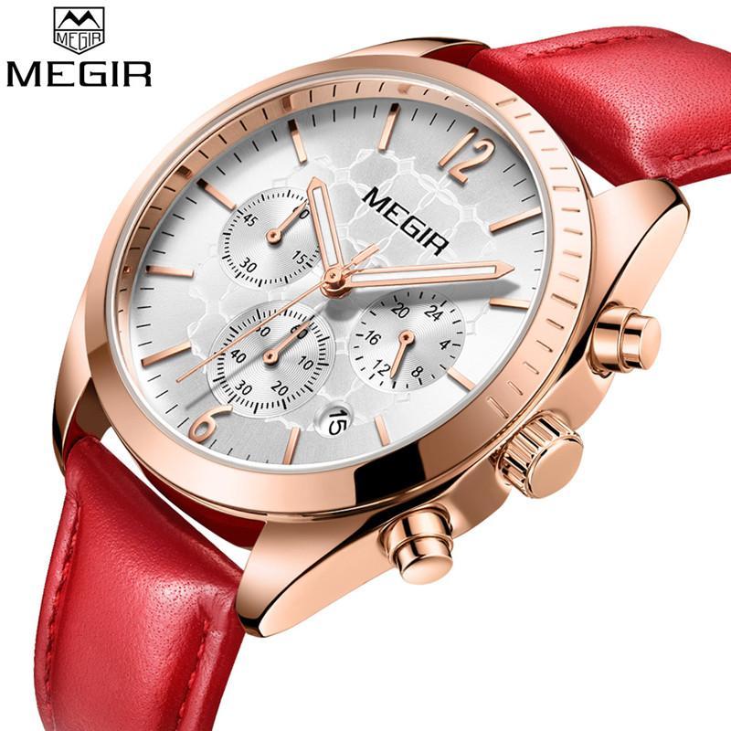 Venta al por mayor Mujeres Reloj de Primeras Marcas de Lujo Fecha Cronógrafo Reloj Femenino Clásico Negocios Reloj de pulsera de Señora de Cuarzo relogio feminino 2115