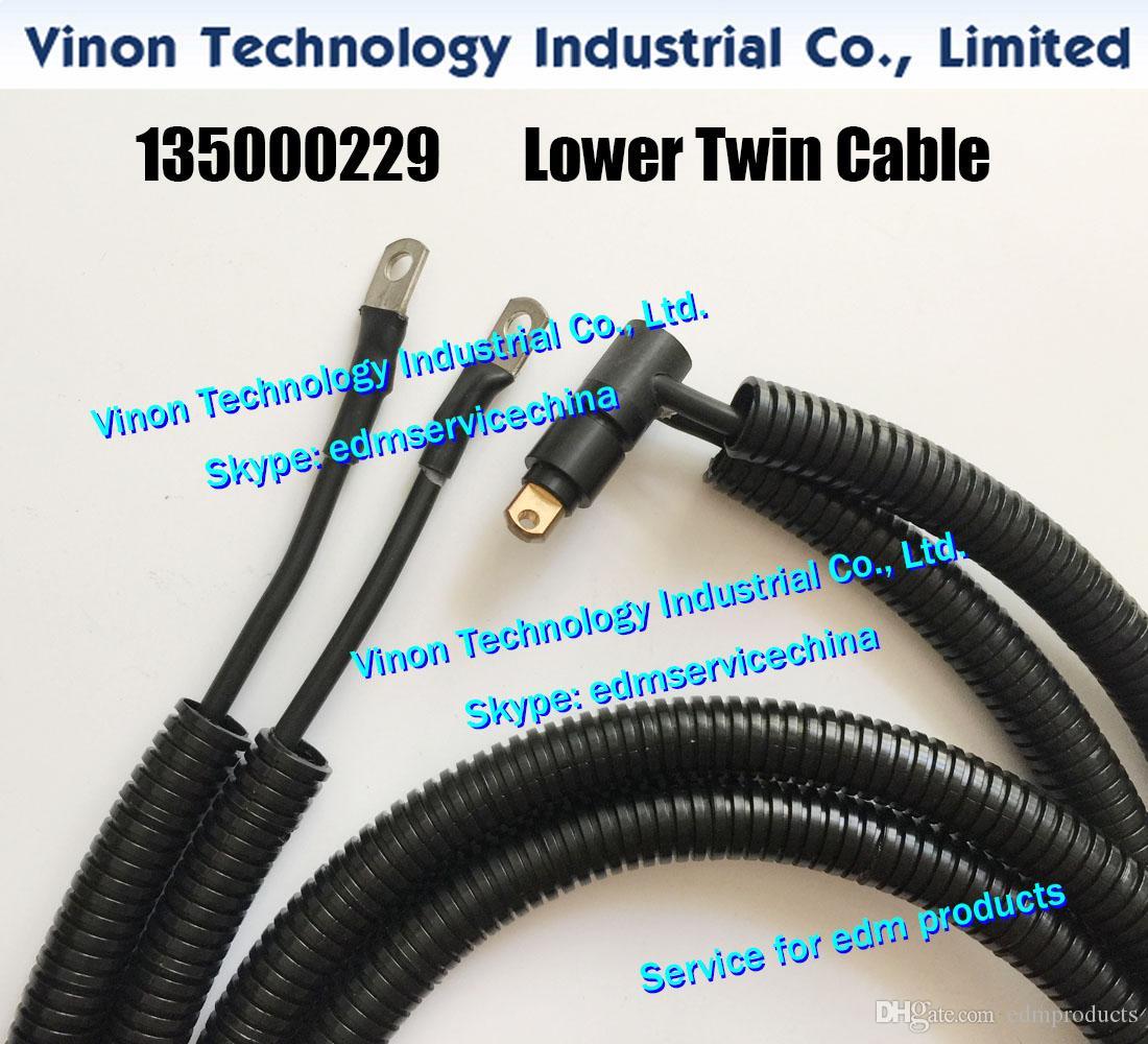 135000229 edm Power Supply Cable L=1200mm for Wire-cut EDM ROBOFIL 440CC,440CCS machines Twincable lower head, edm spare parts 135.000.229