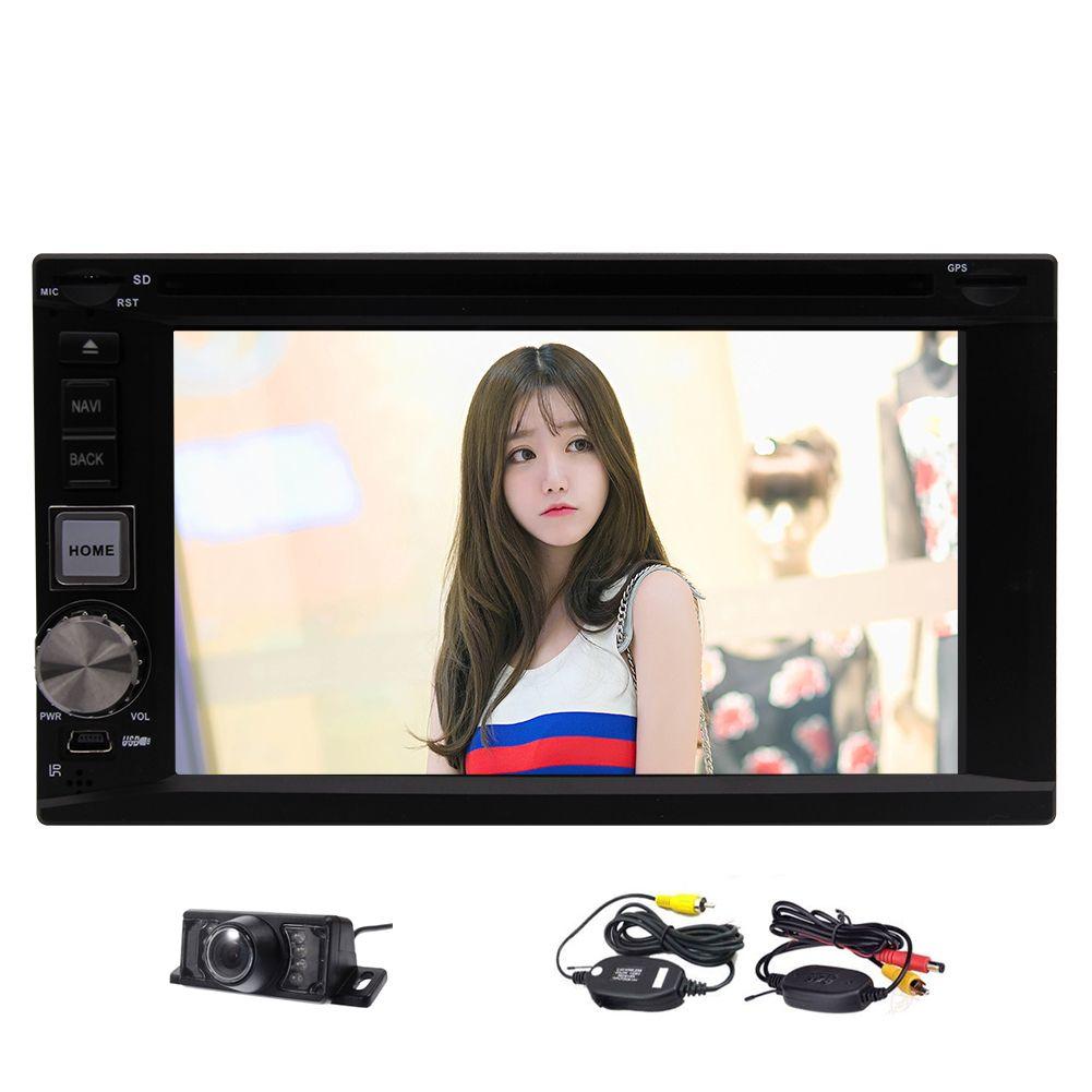 EinCar Android 7.1 Sistema de audio Doble Din 6.2 '' Pantalla táctil del coche Bluetooth Bluetooth Navegación GPS 1080p Video FM / AM DVD de coche receptor de radio