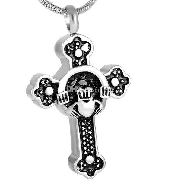 Wholesale Ijd8316 Cremation Jewelry For Ashes Stainless Steel Monkey Cross Cross Necklace For Ashes Of Loved One Picture Pendant Necklace Family Pendant Necklace From Zeqi 7 26 Dhgate Com