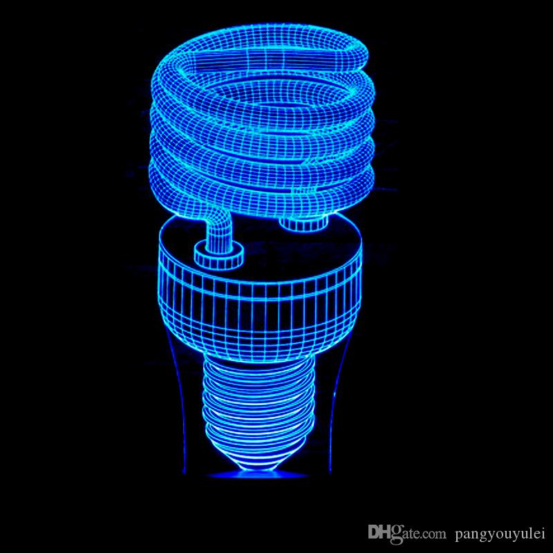 Classic Bulb Fashion 3D LED Night Light USB Colors Energy Saving Table Lamp Bedside Sleep Lighting Living Room drop shipping Free Shipping