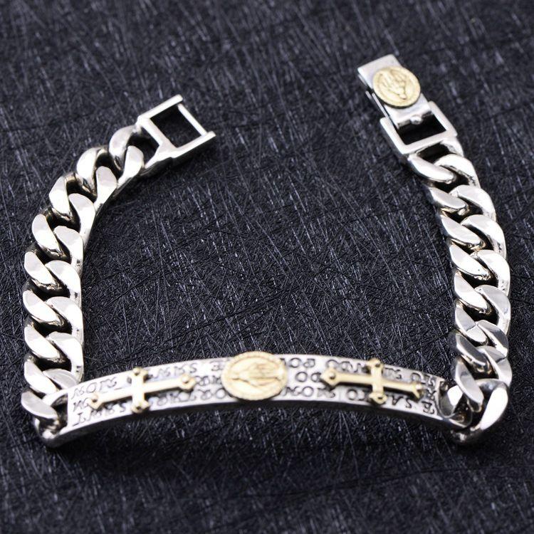 925 reines Silber Schmuck Vintage Thai Silber Jungfrau Maria Männer und Frauen Armband