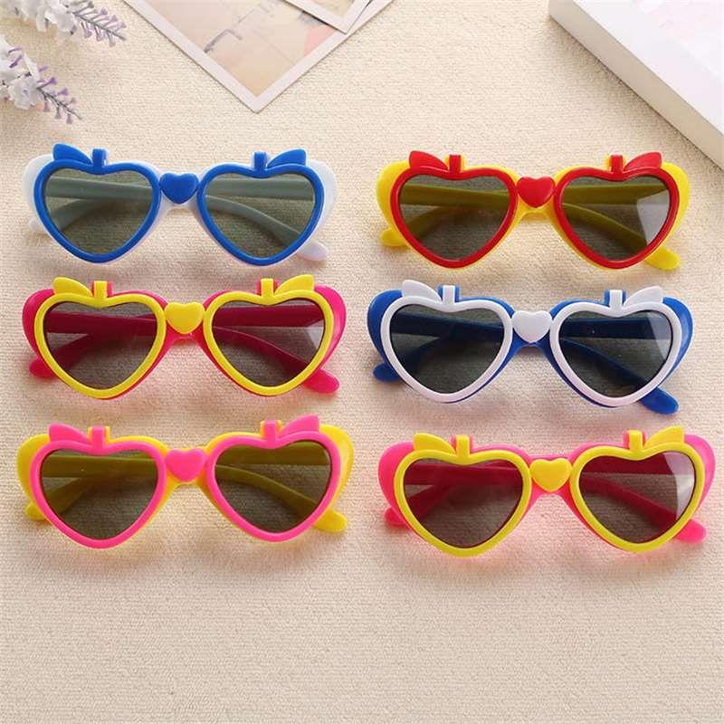 Солнцезащитные очки 2018 творческий новый фруктовый форма яблоко двойной объектив складной детские солнцезащитные очки