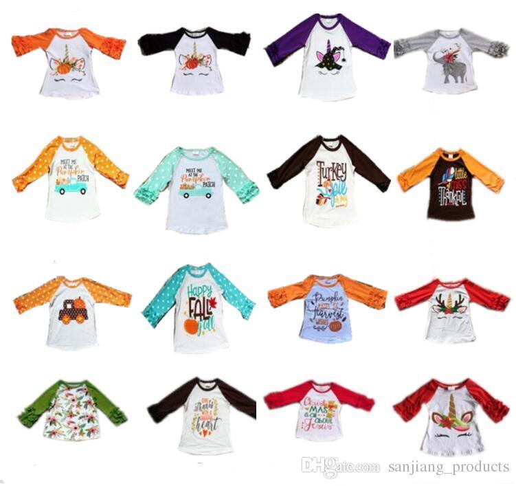 Happy Girls T-Shirt Girocollo Bambina Pacco da 2