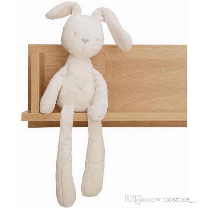 Kinder Ostern Kaninchen Plüsch Weiß und Beige Hase weich Schlafen gefüllte Puppe Kinder-Spielzeug-Kind-Geschenk