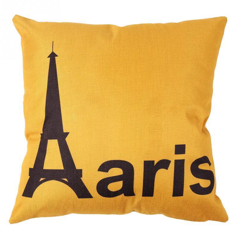 Hot Sale City Printed Soft Romantic Paris Pillow Cases Home Sofa Car Decorative Cushion Cover Home Decoration