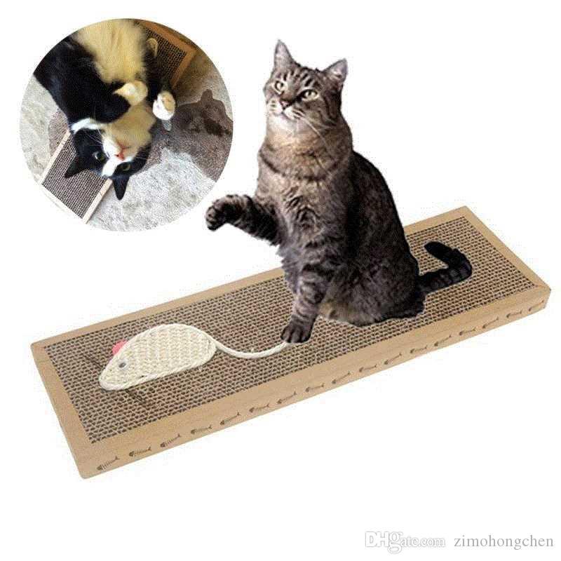 Arañazos de gato de juguete para mascotas cáñamo, sisal Junta gato Rascador de Scratch Pad rectángulo garra