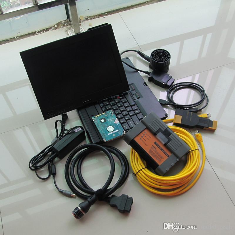 top pour bmw icom a2 avec s pour bmw isis isid avec le dernier mode expert avec ordinateur portable à écran tactile x200t