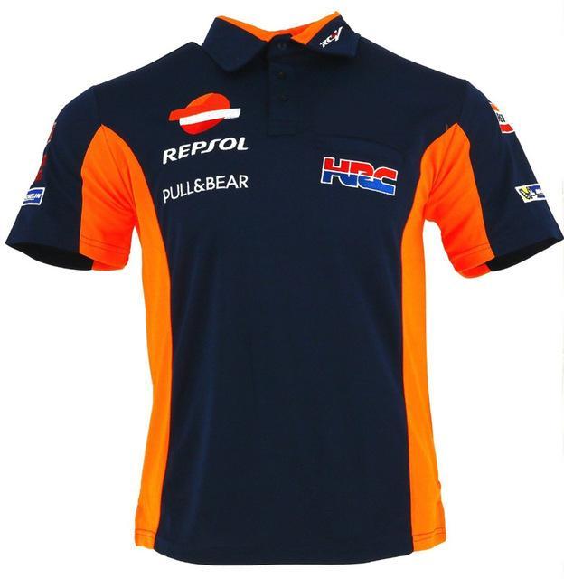 2018 Nueva HRC REPSOL Camisa de Moto GP de motos Polo PADDOCK equipo de carrera DESGASTE polo de la camiseta de la hormiga Camiseta de algodón L G