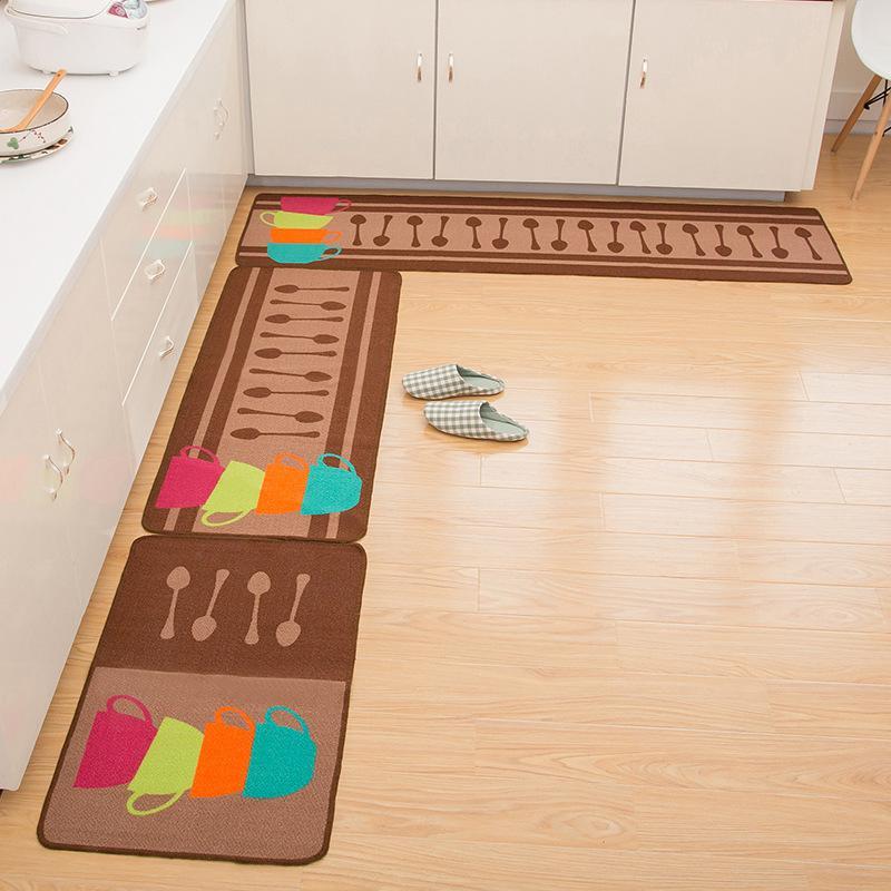 Zeegle Kitchenware Printed Kitchen Rug Mats For The Hallway Anti-slip Door Mats Indoor Sofa Table Floor Bedroom Carpets