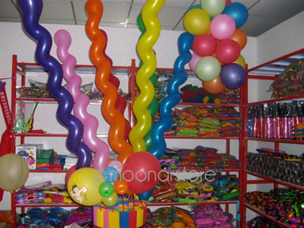 Hot Sale 10pcs/lot Long Screw thread Latex balloon Float air balls inflatable wedding birthday party decoration toys