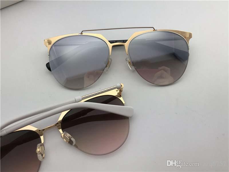 جديد مصمم الأزياء النظارات الشمسية 2181 نصف الإطار المعدني أعلى جودة شعبية أسلوب بسيط uv400 عدسة حماية النظارات