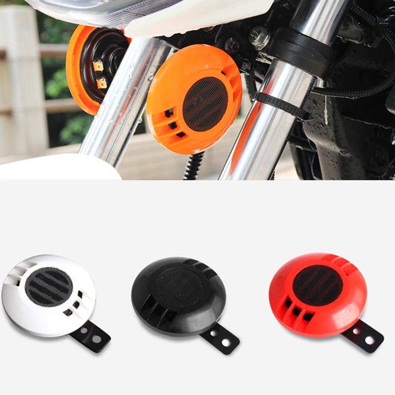 6 Colors Universal 12V Motorcycle Car Motorbike Snail Tweeter Audio Horn 110dB Scooter Bike multi-tone Stereo Amplified Speaker