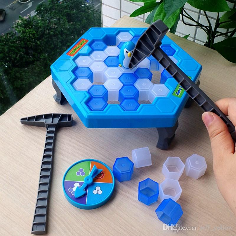 Free shipping Knock ice cubes toy Save penguin Icebreaker child Parent-child family interaction desktop Puzzle beat the game