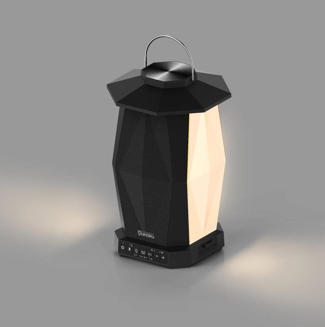Neues Design Bluetooth Spieluhr Lautsprecher LED Nachtlampe Touch Einstellbare Helligkeit Outdoor Camping Zelt Beleuchtung Raumbeleuchtung