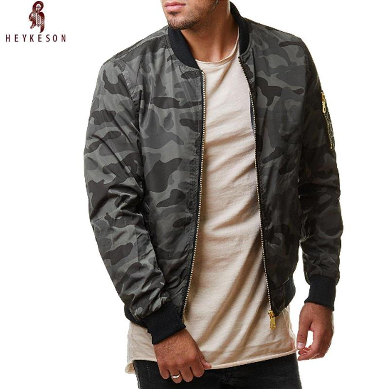 Jaqueta masculina heykeson casual jaqueta de alta qualidade exército camuflagem homens casacos masculinos outerwear sobretudo 4xl