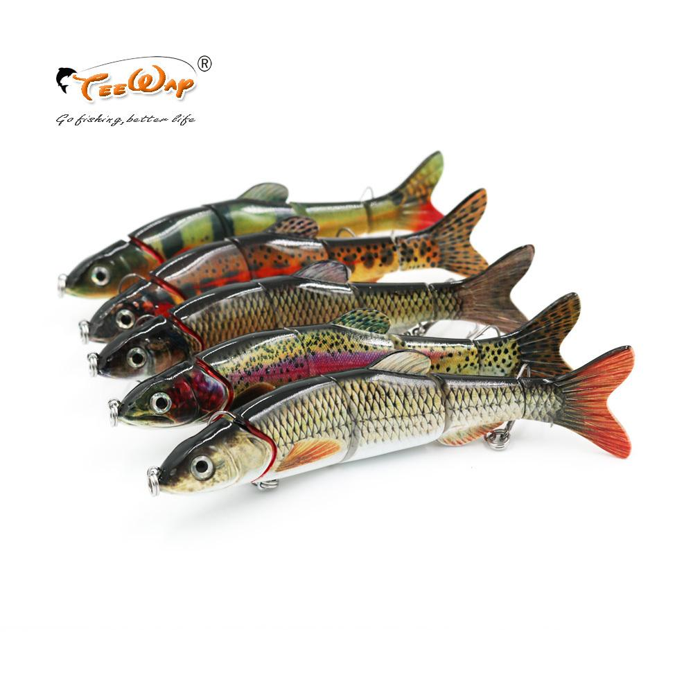 Fishing Wobblers 5 Segements Lifelike Pike Muskie 15cm 40g Isca Artificial Fishing Lures Hard Bait Fishing Accessory Y18100906