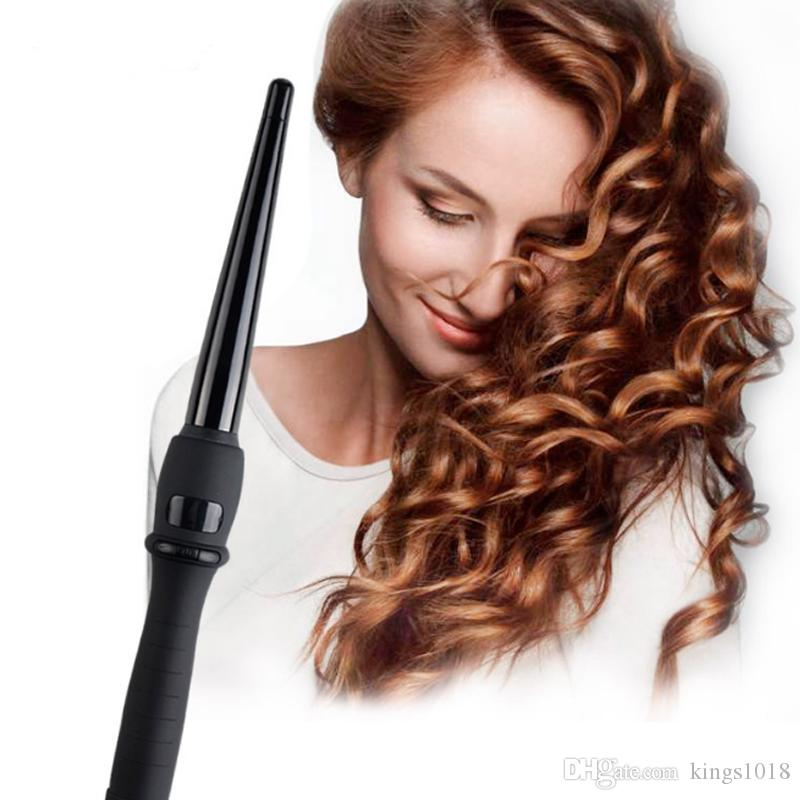 new arrival Hair Curler Ceramic LCD Display Wand Curling Iron Curlers Cone Shape Curly Professional Electric Hair Curlers Roller