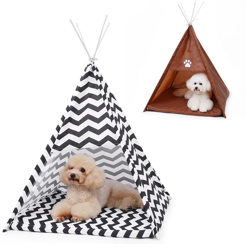 Dog Cage Pet Tent Dog Kennel Tenda Cat Bed Puppy Kitten Play House con Sleeping Pad Kennel Pet Forniture casa accogliente