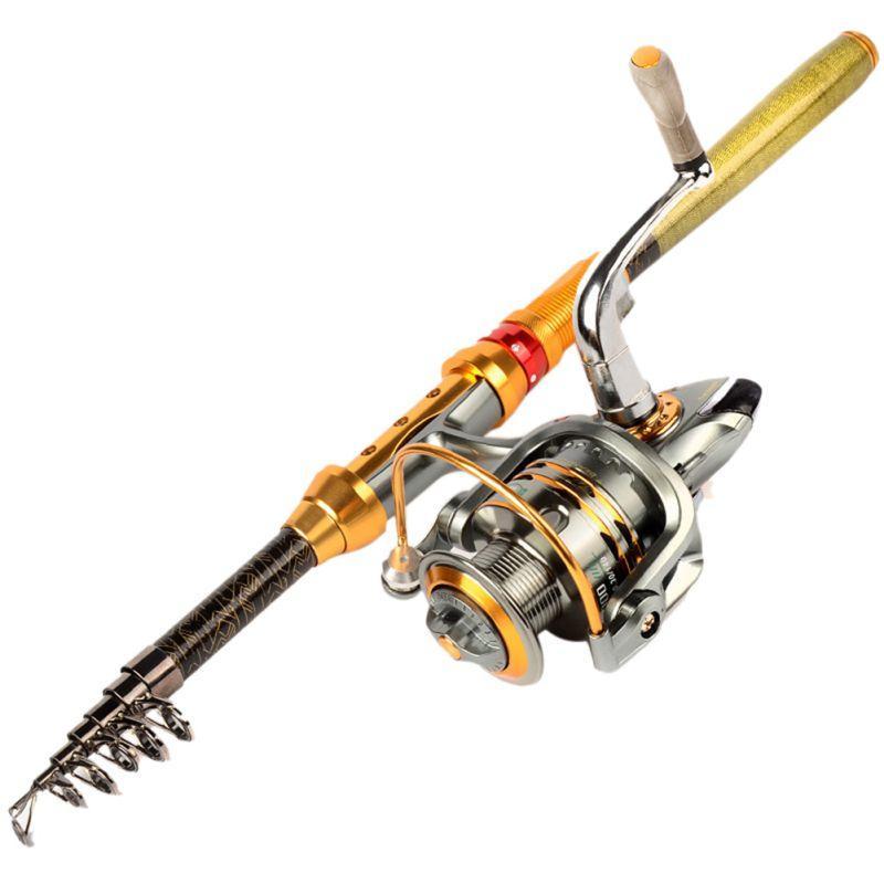 Carbone Section Courte Mini Portable Télescopique Canne À Pêche Spinning Poissons Pêche À La Main Tackle Sea Rod Ocean Rod Chaude