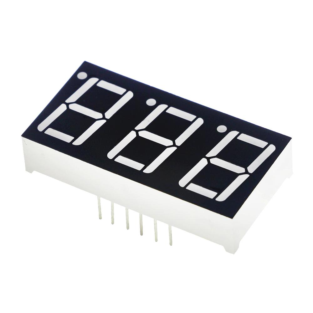 0.56inch 7 Segment 3bit Digital Tube Red Common Cathode LED Digit Display 0.5inch 0.5 0.56 inch 0.56'' 0.56in. three 3 bit