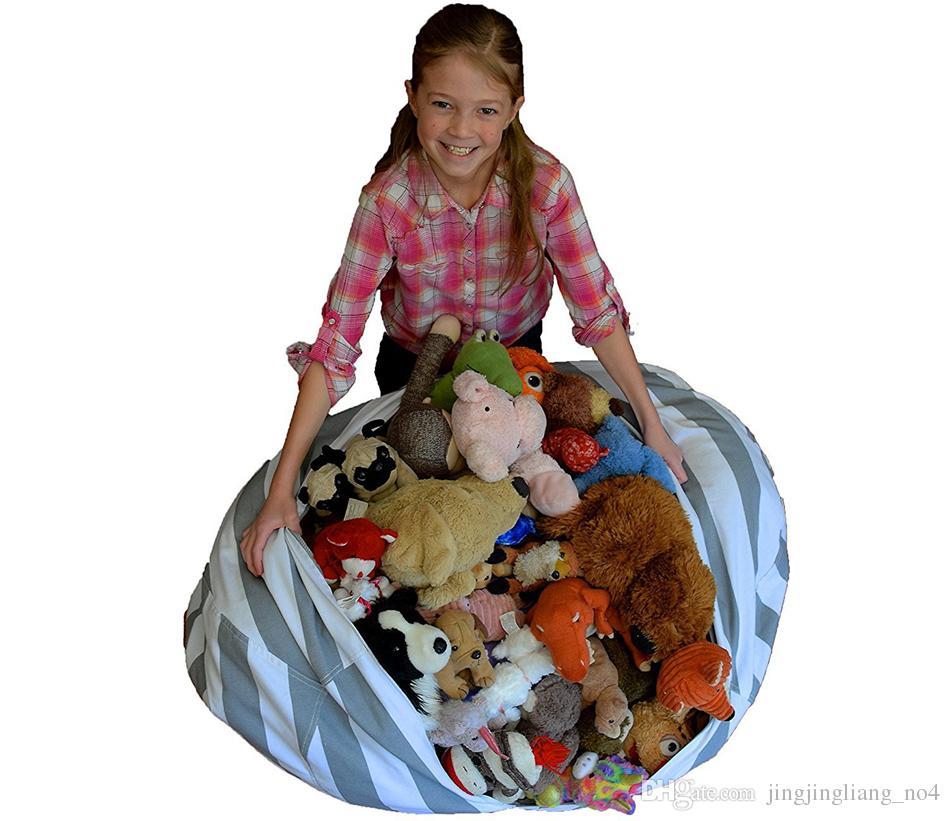 18 Polegadas de Saco de Feijão PreguiçosoSofa Roupas Lazer Cadeira Quarto Crianças Brinquedo Organizador De Armazenamento Assento Saco Cadeira Criativa Crianças 43 Projetos AAA74