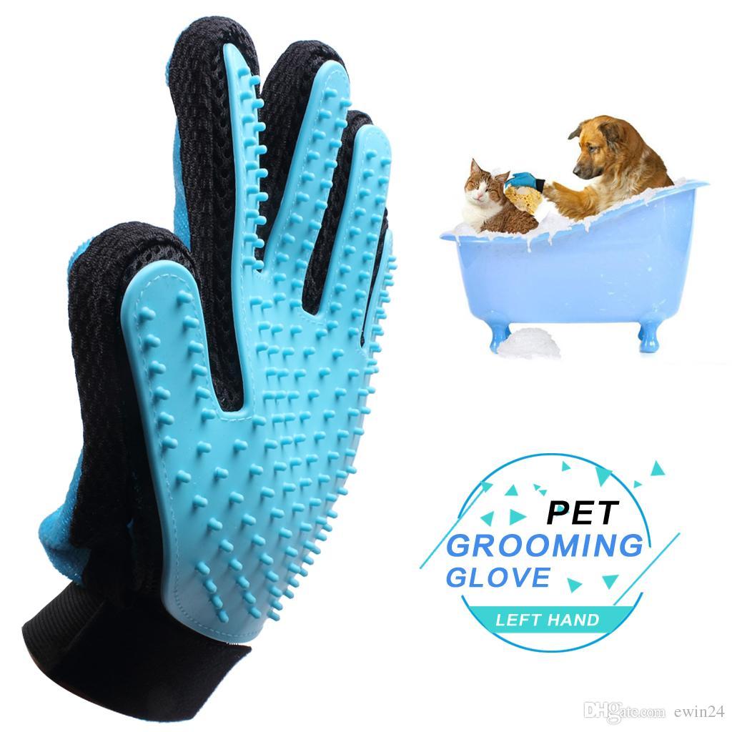 Pet Grooming Glove Pet Glove Massage Magic Hair Remover للكلاب القطط مع الفراء قصيرة طويلة