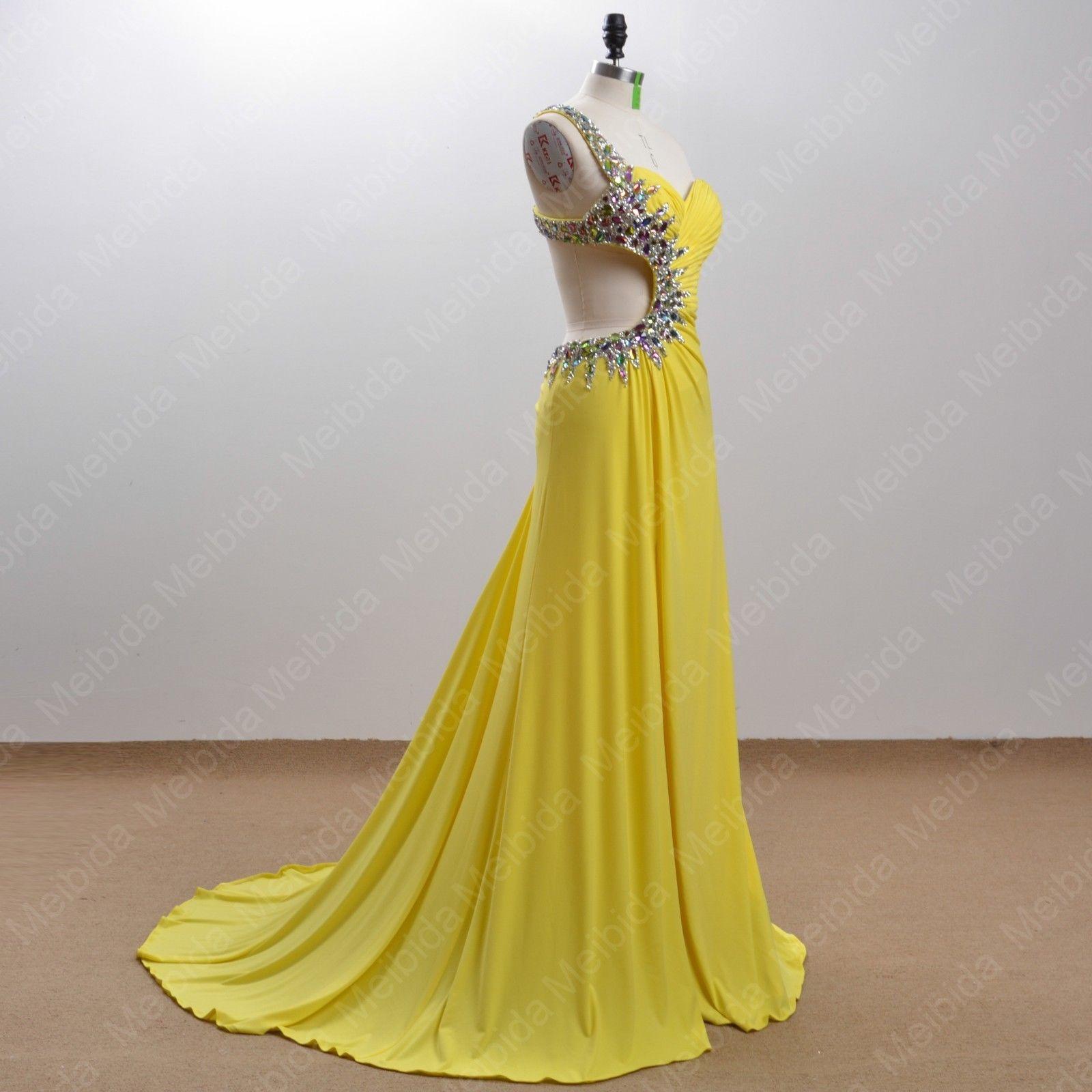 Großhandel Gelbes Hochzeitskleid Handgemachtes Gelbes Chiffon Brautkleid  Partykleid Kostüm Party Von Newstore20, 20,20 € Auf De.Dhgate.Com