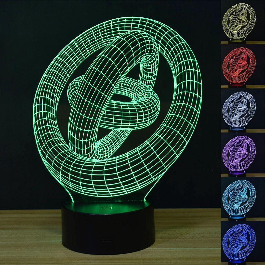 Big Size Der Herr der Ringe 3D Schreibtischlampe 8 veränderbare Farben USB-Nachtlicht # R54