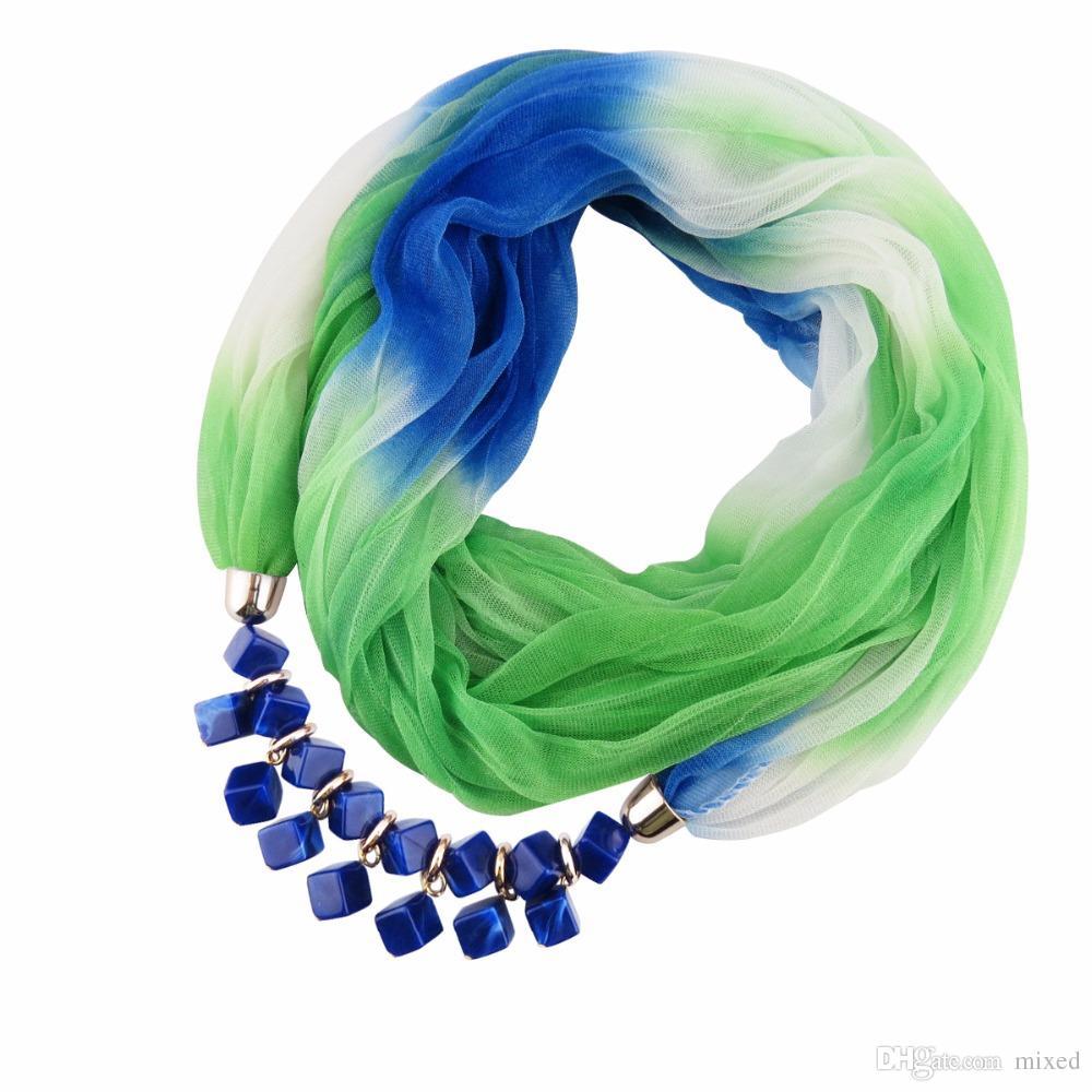 Смола pendnat ожерелье женщины Шелковый Шарф Ювелирные украшения мода осень Этнические Украшения Рождественский Подарок