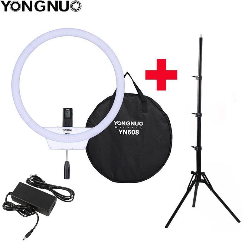 vente en gros YN608 Selfie Ring Light 3200K ~ 5500K bi-température température sans fil LED vidéo Light CRI95 avec poignée trépied poignée