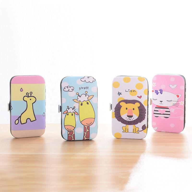 Cartoon Nail Clippers Stainless Steel Manicure Tools Nail Clippers Suit Household Repair Foot Trojan Cat Lion Giraffe