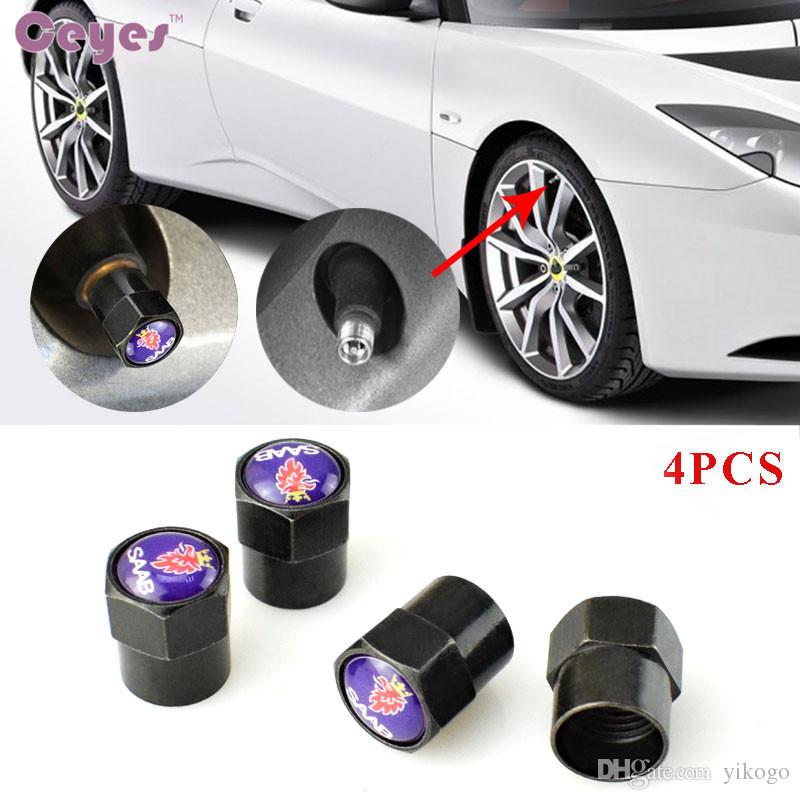 Car accessories wheel tire valves for Saab 93 95 9-2X 9-3X 9-5 9-4X 9-7X 9000 Tyre Stem Air Caps Car Styling 4pcs/lot