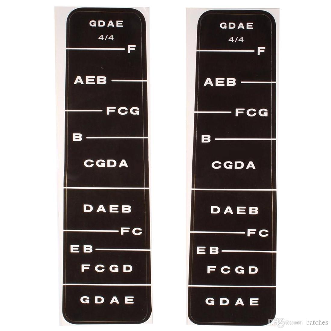 Greatangle Nuevo 1Pcs 4//4 Scale Violin Fiddle Fingerboard Finger Guide Guide Label Stickers Note Chart Black