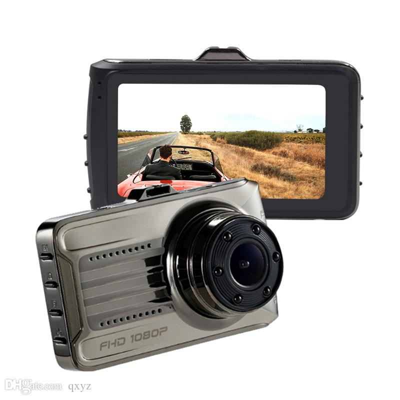 1080P car DVR camcorder auto driving camera full HD 2Ch dual lens front 3 inch 170° wide view angle with G-sensor cycle recording
