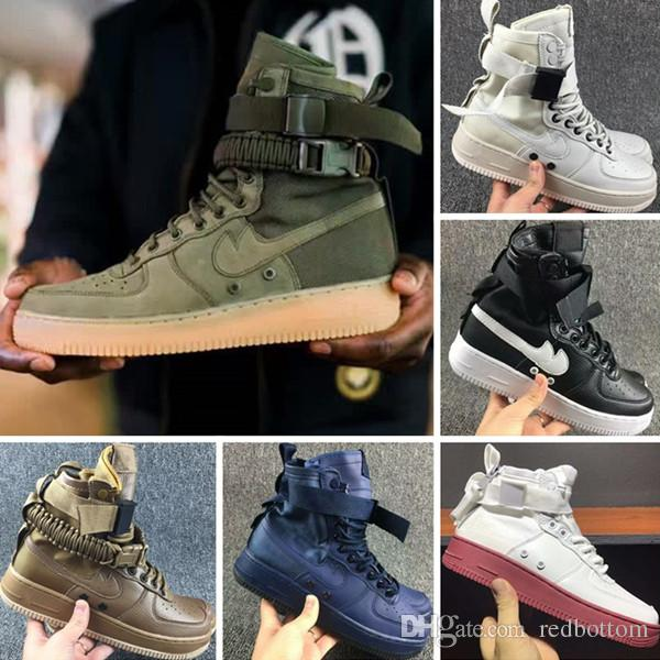 20 17 High Top Sock Boots With Airforce 1 High Sf Cowhide And