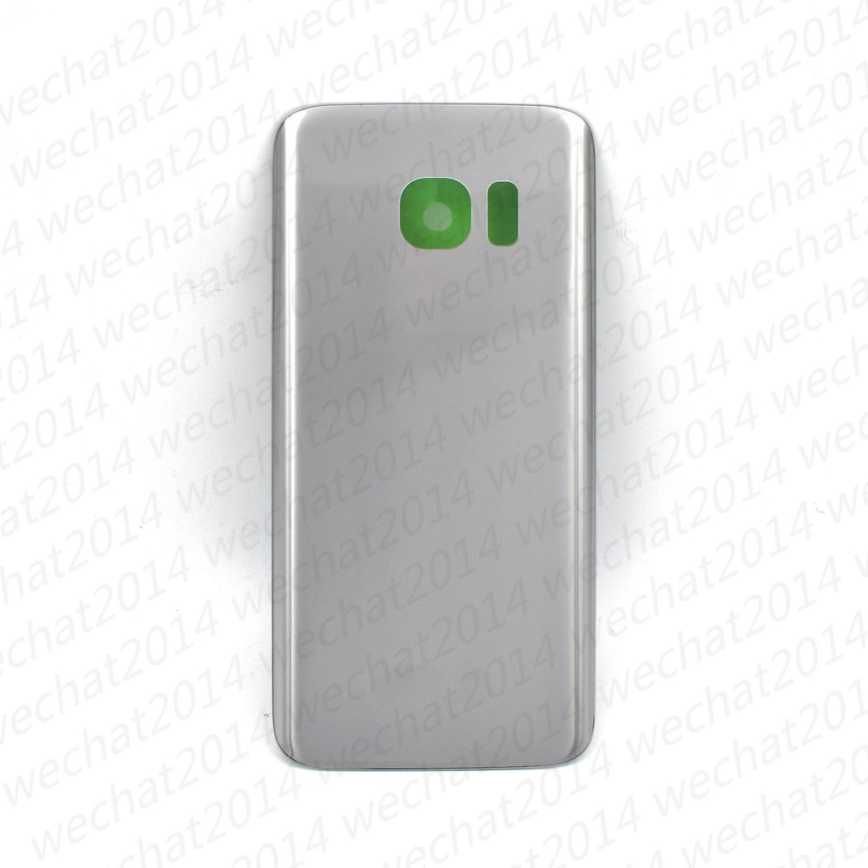 100PCS Batterie Couvercle Arrière Couvercle Couvercle En Verre Pour Samsung Galaxy S7 G930P S7 Bord G935P G935F avec Autocollant Adhésif DHL