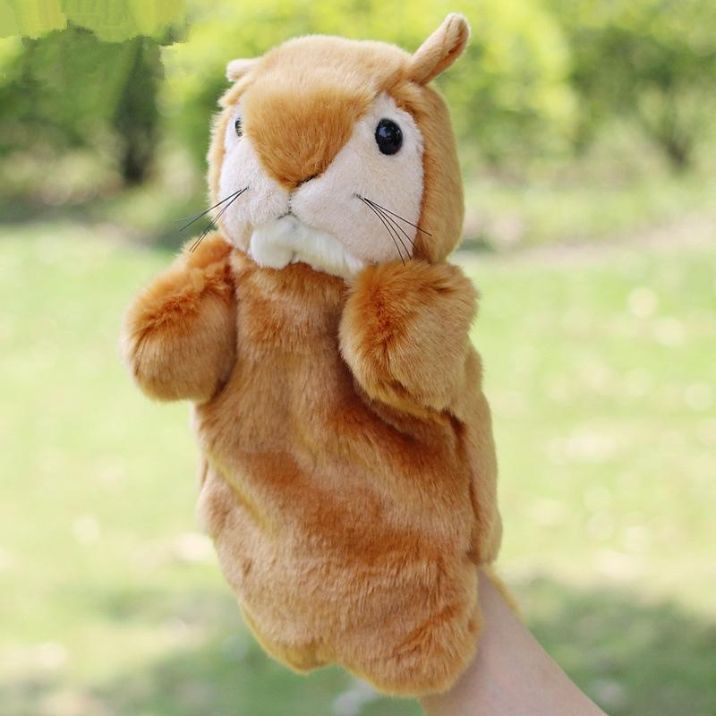 Hot Sale Baby Plush Puppet Hand Puppet Dolls Cute Squirrel Doll Toys Christmas Gifts Brinquedo Marionetes Fantoche