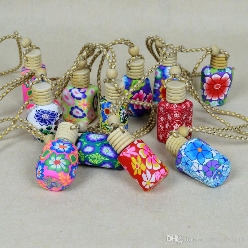 Духи бутылки полимерной глины пустые небольшие духи многоразового бутылки автомобиля кулон персонализированные подарки быстрая доставка F1104
