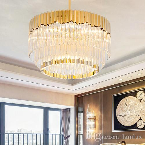 New design Post-modern led pendant lamps crystal glass chandeliers new design creative luxury high-end pendant lights villa hotel hall