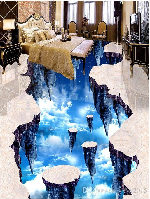 Living Walls Wallpaper Walkway Hall Sky 3D Floor Outdoor Drawing ...