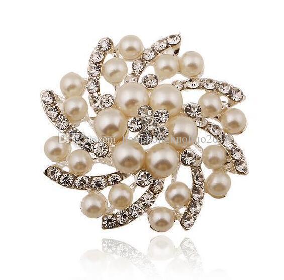 نماذج الانفجار الأوروبية والأمريكية لؤلؤة الماس كامل الماس جولة بروش بروش الراقية الملابس الاكسسوارات والمجوهرات