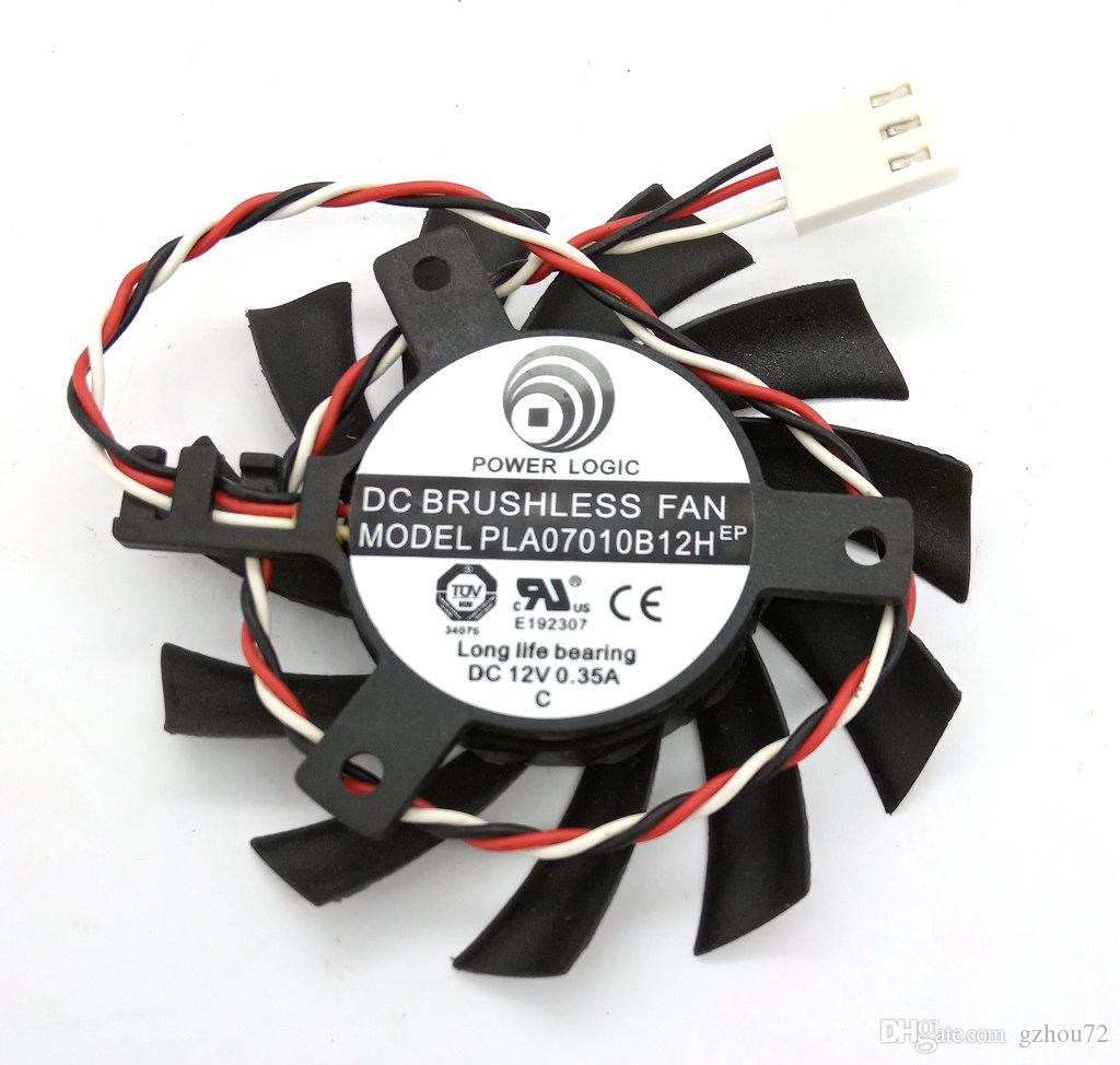 Original PLA07010B12H DC12V 0.35A diâmetro 6.5CM pitch 4.0CM placa gráfica ventilador